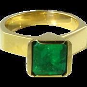 Stunning Emerald 18k Ring