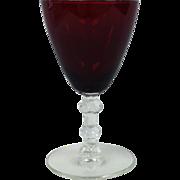 4 oz Ruby Flared Goblet By Huntington Glass