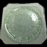 Depression Glass Adam Plate By Jeannette In Green