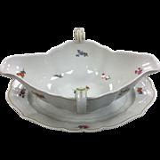 Vintage Meissen Porcelain Gravy Boat