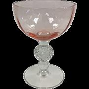 Elegant Glass 6 oz Pink Goblet Golf Ball By Morgantown #331