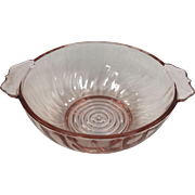 Depression Glass Swirl Bowl By Jeannette