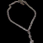 GIVENCHY Designer Runway Swarovski Crystals Silver Tone Drop Style Necklace