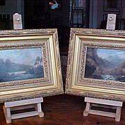 Pair of Irish Landscape Oil Paintings C. 1850