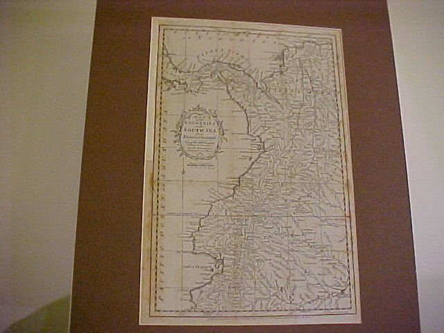"""Antique Map """"Countries of the South Sea"""", Thos. Kitchin 1777"""