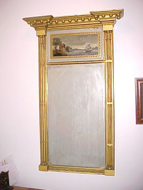 Exceptional Philadelphia Looking-Glass,  Mirror C. 1815