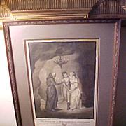Original Grisaille Illustration for Dryden poem, monogram & date 1793