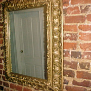 Ornate wood carved and gilded 18th or 19th C. Mirror