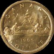 2- Canada 1965 Silver Dollars