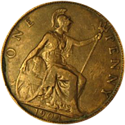 1904 Great Britain One  Penny