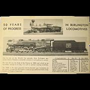 Post Card Burlington Route 50 Years of Progress Worlds Fair