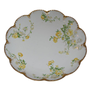 Haviland Limoge plate in shades of yellow and gold.