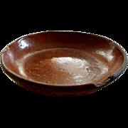 Antique Pennsylvania Red Ware Bowl     circa  1860