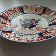 Antique Japanese Imari Scalloped & Fluted  Plate  circa 1870