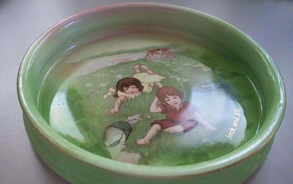"""Royal Bayreuth  Child's Dish/Bowl   """"Jack and Jill """""""