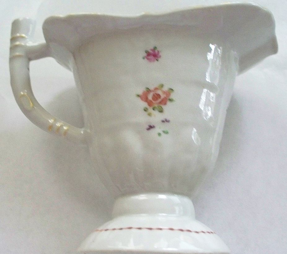 """Antique Chinese Rose Famille """"Helmet""""  Pitcher   circa 1820"""