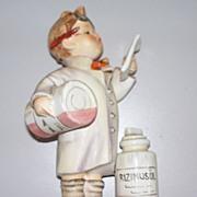 """Hummel   """"Little Pharmacist""""   TMK 3  Stylized Blue Bee # 322"""