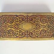 "Antique  French 'Boulle'  Desk Box    circa 1870       8"" x 3.5"" x 2"""