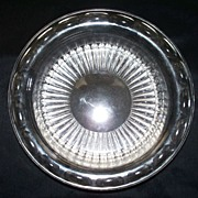 Hawkes Crystal  Sunburst & Thumb Print  Bowl     6.5 ""