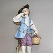 Meissen Boy with Baskets  19th century  Figurine perfect