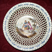 Antique French Faience Small Bowl by Lille artist signed E.Duc