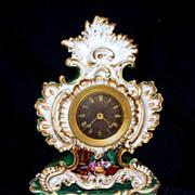 Antique  French  Jacob  Petit  Louis VX Clock   Lovers   circa  1840  Signed