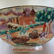 Rare Antique Chinese Bowl  of  Barrel  Factory  Exquisite!