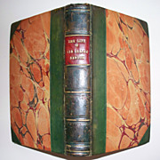 Sir Isaac Newton Book  Sir David Brewster author  date 1831  leather bound.