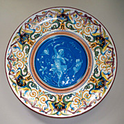 Antique French Faience  Creil Lebeuf & Milliet  Charger Cantagalli -Style ca.1840-1876