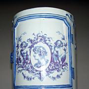 Antique Gien Tankard Large Cup 'Cupids/Putti'  circa 1870