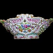 Lovely Antique Meissen Marcolini Rococo Basket  circa 1774-1814