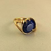 Artisan 14k Yellow Gold Lapis Ring