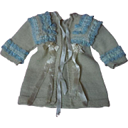 Lovely Old wool Sweater for german french bisque cabinet sized doll
