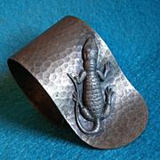Antique ALLIGATOR Figural Florida Souvenir Napkin Ring