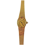 Vintage 14K Solid Gold Womens Movado Dress Watch
