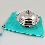 Vintage Tiffany & Co.Sterling Silver 3 Piece Butter Dish - Early 1900's