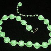 Vintage Classic  Single Strand Plastic Necklace Marked Germany