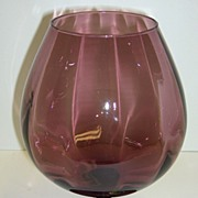 Rossini Genuine Neapolitan Purple Glass Vase  Made in Italy