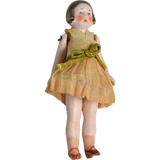 "German All Bisque Doll, 3"" Tall, All Original"