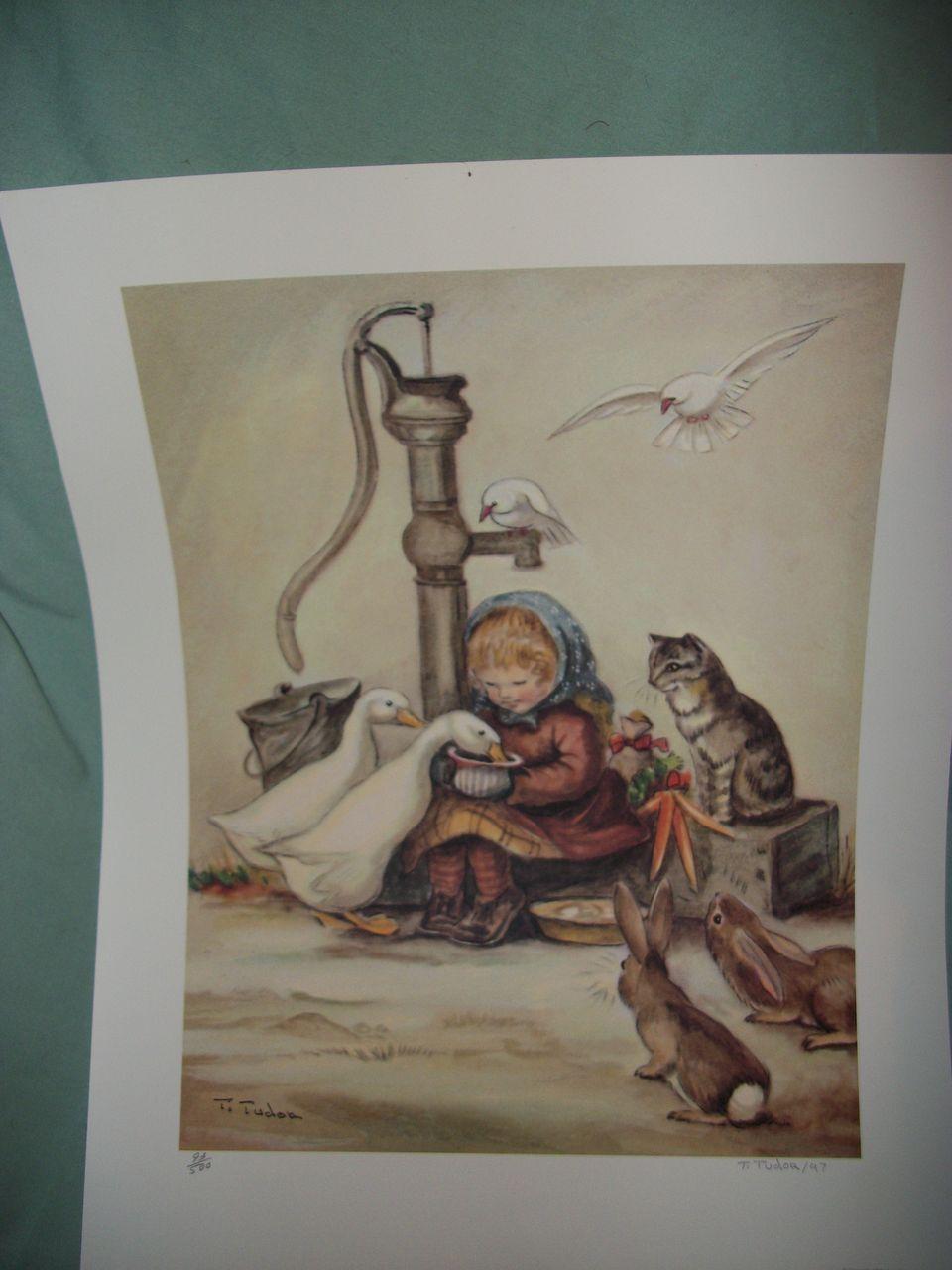 1997 Tasha Tudor signed & Numbered Print Free P&I US Buyers