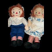 """16""""Cute Georgene Raggedy Ann & Andy Dolls Free P&I US BUYERS"""