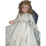 "Beautiful Effanbee 21"" composition Bride Doll Free P&I US Buyers"