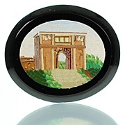 Antique Grand Tour Micromosaic Plaque  Arch of Titus - Micro Mosaic