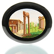 Antique Grand Tour Micro Mosaic Plaque Roman Forum - Micromosaic