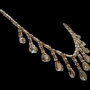 Edwardian Era Aquamarine, Diamond & Platinum Necklace