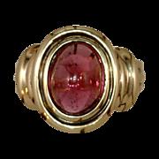 Estate Jewelry Kathy Bates Vintage English Pink Tourmaline  Ring