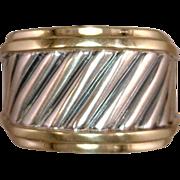 Kathy Bates Estate David Yurman Cable Ring SS 14 karat gold
