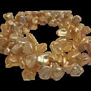 Peach Keshi Pearl Bracelet