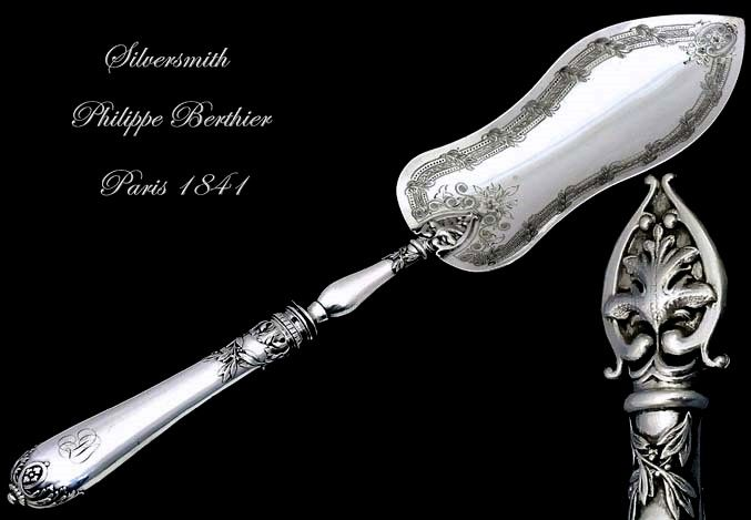 Philippe BERTHIER: Antique French Sterling Silver Pie Pastry Serving Piece