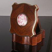 Antique Kingwood Watch Stand by Tahan of Paris